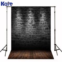 Kate Black Brick Wall Photography Studio Backdrop Wooden Floor Backdrops For Photography Light Backgrounds for Photo Studio