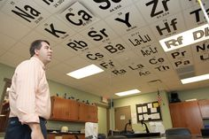 Periodic Table Ceiling. This is flippin awesome!