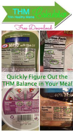 IDEA Health and Fitness Association: Trim Healthy Momma THM Calculator - Count Fat vs C...