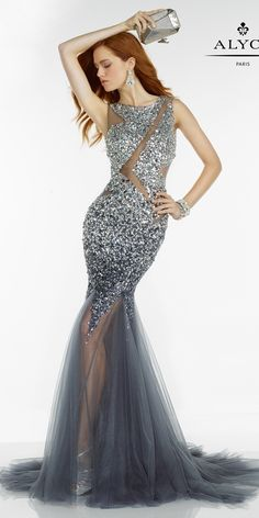 Alyce Unique Beaded Mermaid Dress 6618