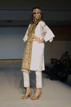 designed by Fawzi Nawar Tunisia_Mahdia Design Textile, Carthage, Hijab Chic, Oriental Fashion, Caftans, Traditional Dresses, Handicraft, Henna, Kimono Top