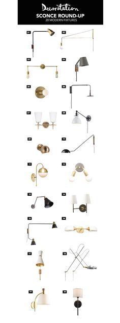 Wall Sconce Round-Up: 20 Modern Fixtures | Lighting | Light Fixtures