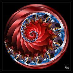 Patriotic Spiral by *kayandjay100
