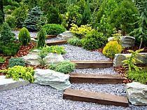 schody, stopnie w ogrodzie