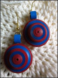 DAYDREAMS: Quilled earrings and a flower