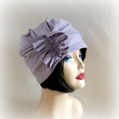 Hey, I found this really awesome Etsy listing at https://www.etsy.com/listing/189561242/sale-chemo-cloche-hat-lilac-turban