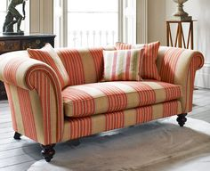 Inspired by London's famous members clubs, Club Stripes is a fabulous collection of nine vintage striped fabrics on a brushed linen union cloth.
