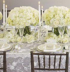 White Hydrangeas.  Another possible wedding flower.