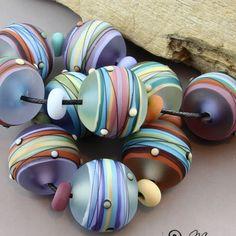 Magma Beads ~Jupiter's Playground~ Handmade Lampwork Beads. #Lampwork