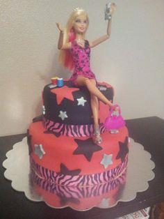 Drunken Barbie 21st Birthday Cake- 2013