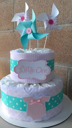 Diaper cake. Pampers Diaper cake. Girl's diaper by SweetBugABoo, $40.00