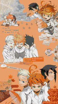 Yakusoku no Neverland Cute Anime Wallpaper, Wallpaper Iphone Cute, Anime Gifs, Anime Art, Aesthetic Pastel Wallpaper, Aesthetic Wallpapers, Animes Wallpapers, Cute Wallpapers, Kawaii