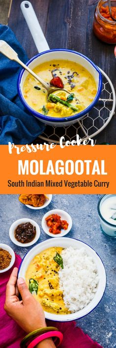 MOLAGOOTAL  is a Vegan South Indian Mixed Vegetable Curry that is often served with Steamed Rice.   #palakkad #curries #vegan #southindian