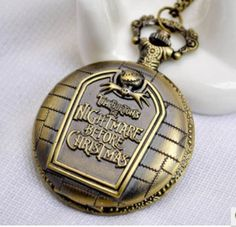 High-end Vintage Nightmare Before Christmas Pocket Watch Necklace Vintage…