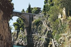 Furore bridge between Praiano and Amalfi