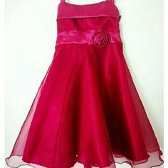 Vestido para nena de tul y  raso falda amplia Vestido de Fiesta con lazo y flor Little girl outfits dress Glam Girls Puro Glam Kids