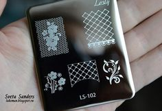 mini-plate by Lesly LS-102, size 5x6cm