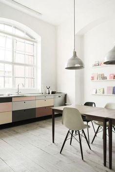 - Modern Interior Design, Interior Design Kitchen, Interior Design Inspiration, Interior Architecture, Design Ideas, Pastel Interior, Interior Ideas, Interior Office, Nordic Interior