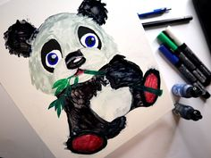 Here is a quick demonstration of painting a cute koala - panda bear and bamboo. Everybody loves a panda, and I am no exception. This painting uses only alcohol inks, and demonstrates how to paint the panda bear, and his favourite food, bamboo. Zen Doodle, Alcohol Inks, Panda Bear, Bamboo, Doodles, My Arts, Draw, Make It Yourself, Canvas