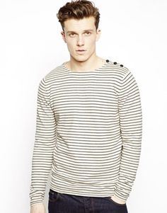 Selected Stripe Jumper With Boat Neck