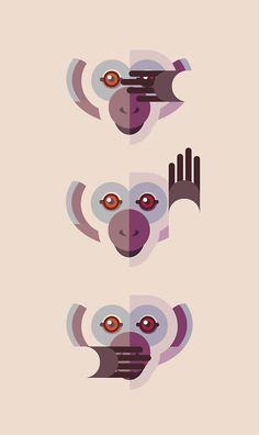 Ignore No Evil art prints and more by Fabio Rex on Redbubble. Good monkeys!