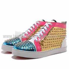 9bac4c81a3db Men Louis Spikes Multicolor Christian Louboutin Spike Shoes