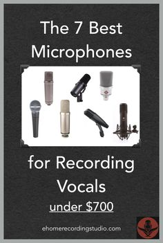 The 7 Best Microphones for Recording Vocals ehomerecordingstu. Microphone For Recording, Music Recording Studio, Audio Studio, Sound Studio, Home Studio Music, Singing Microphone, Recording Booth, Studio Musica, Live Music