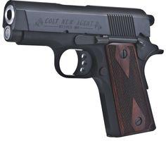 04d62bc6e15 Colt New Agent Semi Auto Handgun 3 Barrel 8 Rounds Double Diamond Grips  Black Anodized Finish