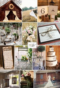 Cute idea for Tennessee vow renewal!  I love the bike, bouquet, table, field.  Maybe add some burlap, boots, a horse...love the colors and vintage/country touches!