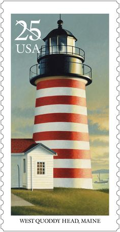 This stamp is one of five lighthouses stamps issued in 1990.