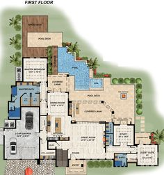 Contemporary Modern House Plan 71535 Level One