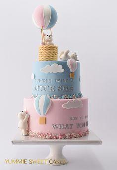 Birthday Cake Kids Boys, Twin Birthday Cakes, Gender Party, Baby Gender Reveal Party, Gender Revel Cake, Easy Birthday Cake Recipes, Baby Reveal Cakes, Pregnancy Gender Reveal, Twins Cake