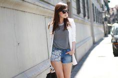 Short: jeans & lace