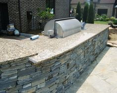 Image result for outdoor kitchen countertop limestone