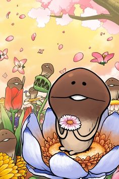 Nameko&flower