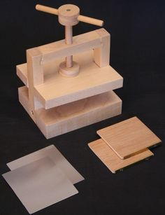 Miniature bookbinding equipment