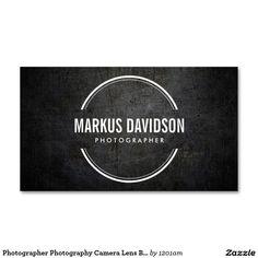 Fotograf-Fotografie-Kameraobjektiv-Visitenkarte Visitenkarten