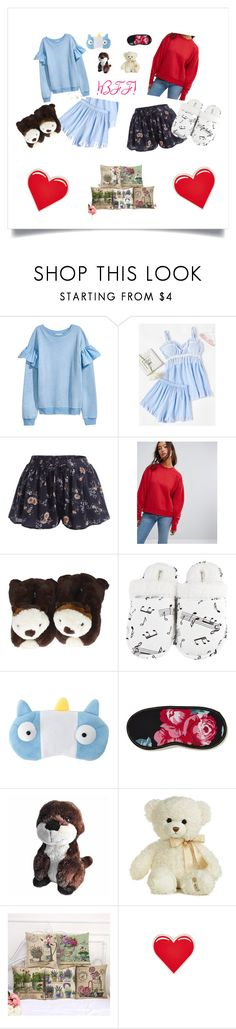 """Silent Hug And Sweet Nightmares"" by ars-littlecloset2379 ❤ liked on Polyvore featuring Leisureland, Therapy, Aurora World and PINTRILL"