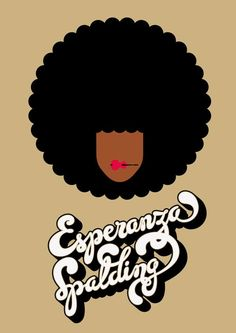 Esperanza Spalding graphic print.