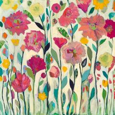 How to paint flowers   Inspiration from Carrie Schmitt at