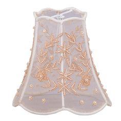 "5"" Beaded Mini Silk Bell Wall Sconce Shade"