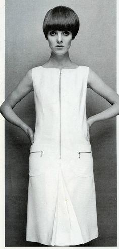 Grace Coddington wearing Mary Quant photo Terence Donovan 1965
