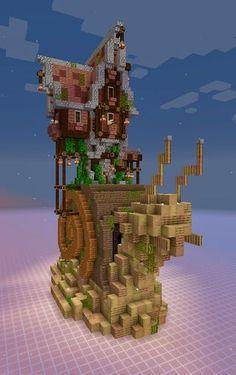 Casa Medieval Minecraft, Minecraft Mansion, Minecraft Cottage, Minecraft Castle, Cute Minecraft Houses, Minecraft Plans, Minecraft House Designs, Minecraft Survival, Amazing Minecraft