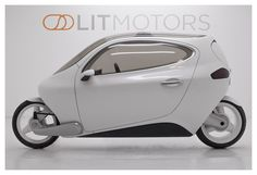 Our flagship vehicle, the C-1. Fully-electric, self-stabilizing, two-wheeled. The best parts of a car and a motorcycle in one vehicle. 100+ mph top speed, 200 mile range, 0-60 in 6 seconds. Accepting pre-orders now at litmotors.com/reserve. This is the future of transportation!
