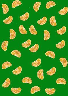 hungryzipper:    Mandarina Pattern  http://hungryzipper.tumblr.com/  みかん