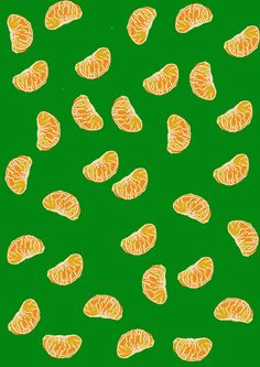 hungryzipper:    Mandarina Pattern  http://hungryzipper.tumblr.com/  みかん