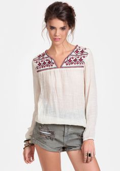 Meditative State Embroidered Blouse at #threadsence @ThreadSence