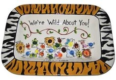 Wild About You! Platter by The Pottery Stop Gallery!, via Flickr