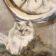 2015 Nancy Murphree Davis nmdART.com Watercolor Art, Cats, Artwork, Animals, Beautiful, Instagram, Gatos, Animais, Work Of Art
