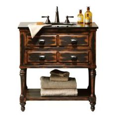 Home Decorators Collection Benton Park 32 in. W x 20 in. D Vanity in Antique-0568800910 at The Home Depot
